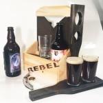Caisse de bière + 2 plateaux (en bois)