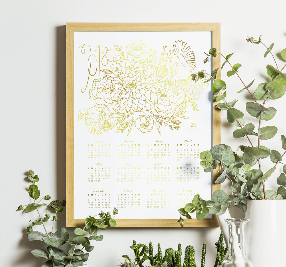 Calendrier floral 2018