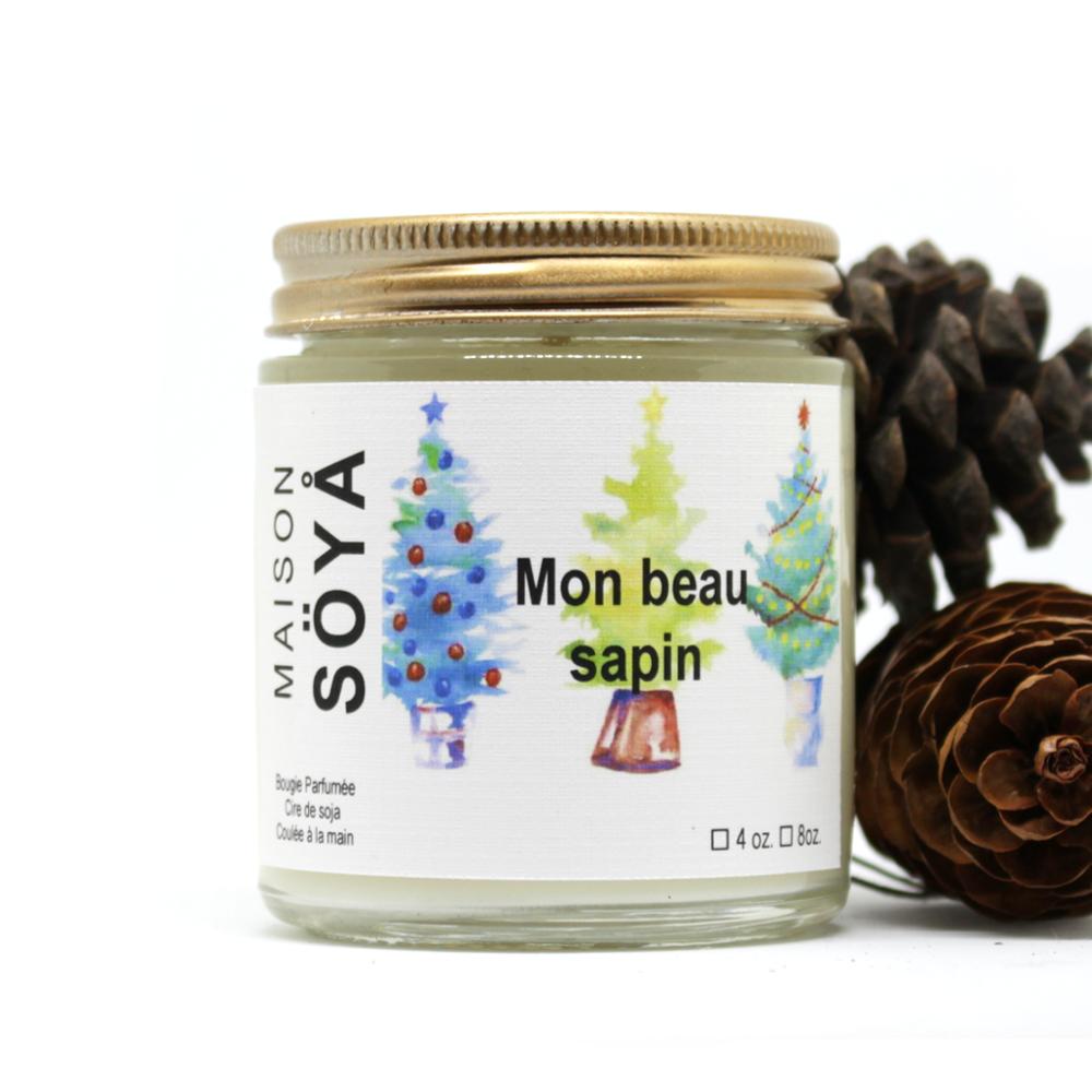 Bougie de soya «Mon Beau Sapin»