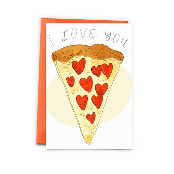 Je t'aime en pizza