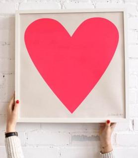 Sérigraphie – Coeur