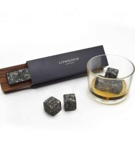 Pierre à Whisky (6) – Gabbro et boitier en Noyer