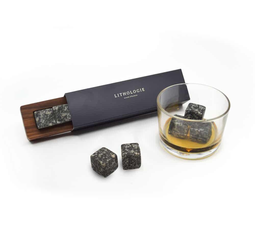 Pierre à Whisky – Gabbro et boitier en Noyer (6)