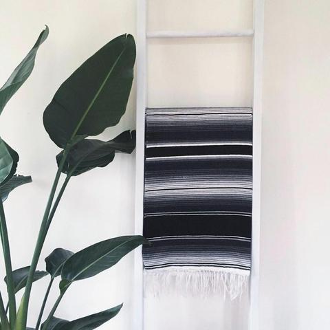 Couverture mexicaine – Noir et gris