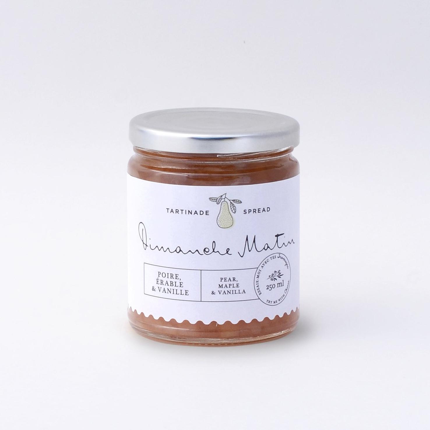 Tartinade poire, érable & vanille