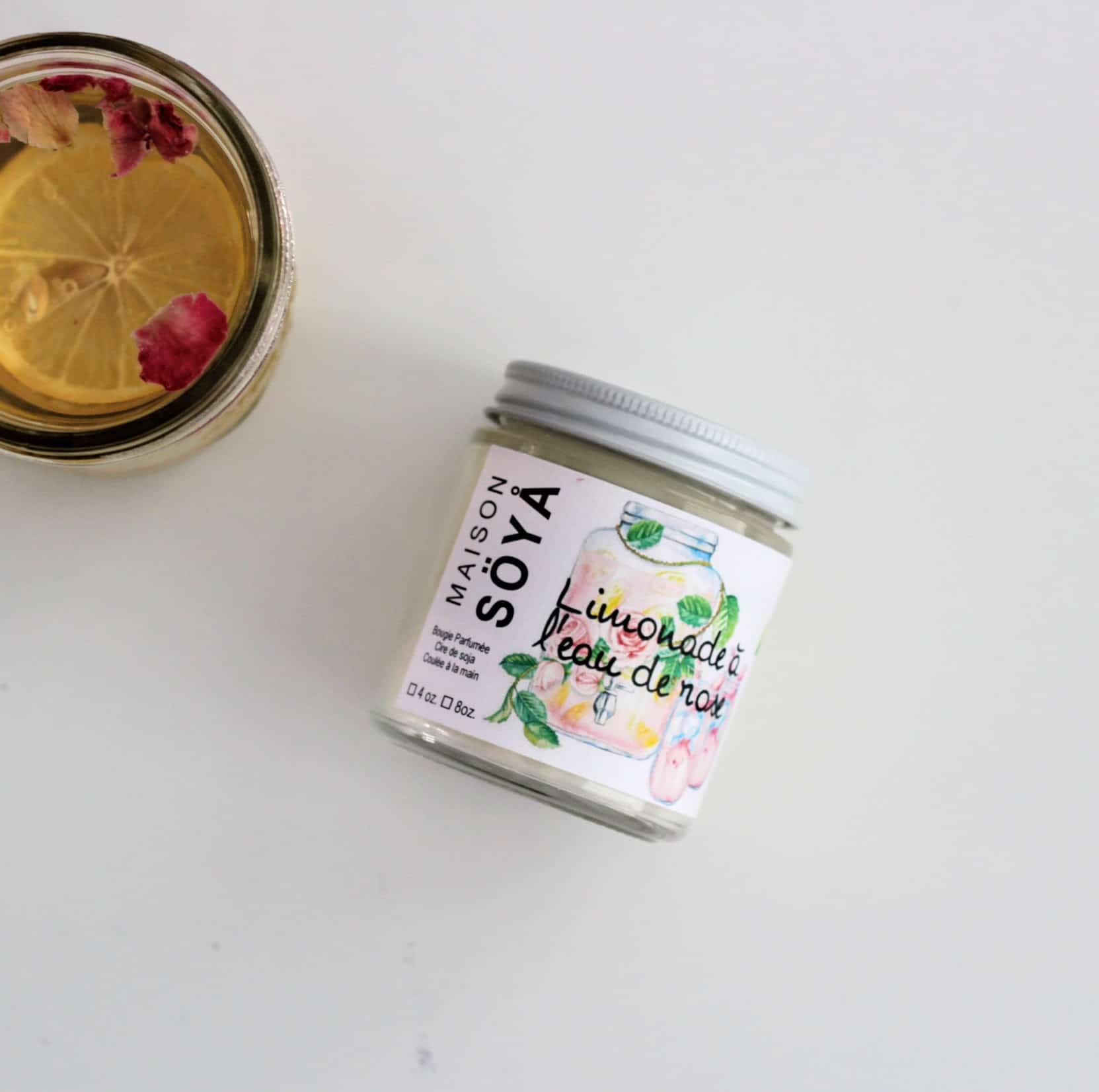 Bougie de soja – Limonade à l'eau de rose