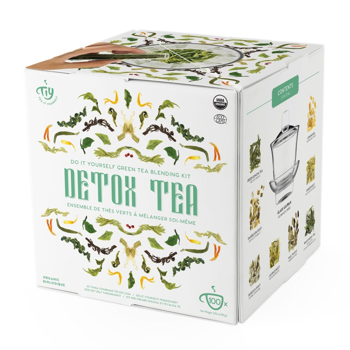 Ensemble de thé détox