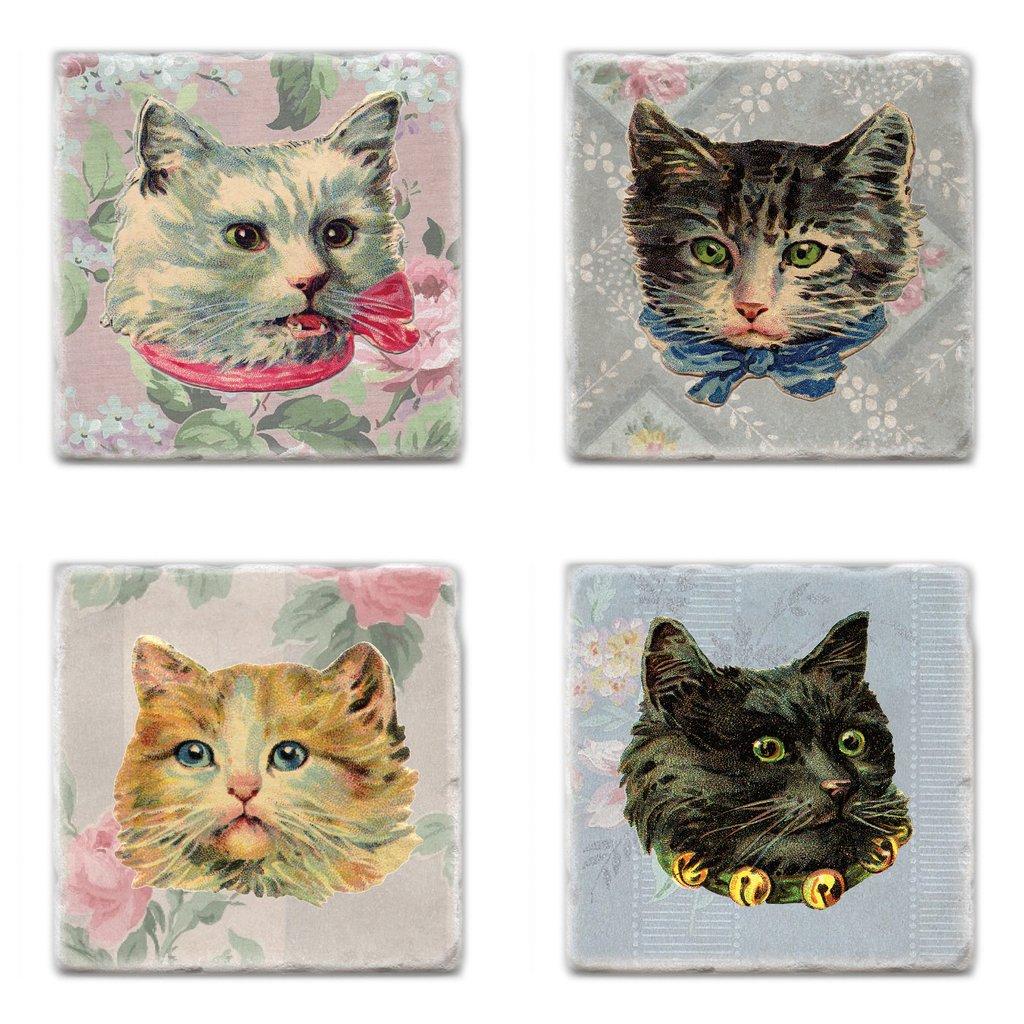 Cliquez ici pour acheter Sous-verres avec chats vintage
