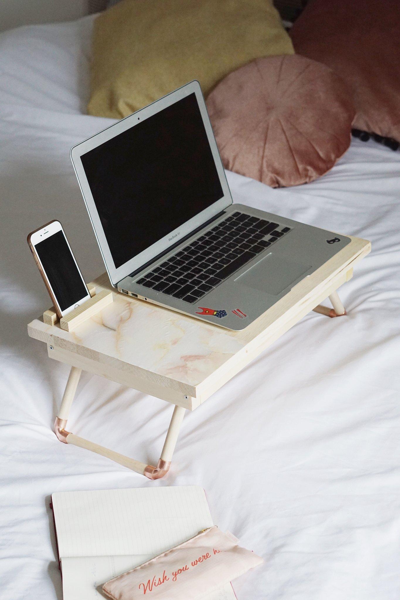 Atelier DIY – Tablette pour bureau nomade