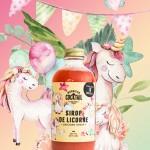 Cliquez ici pour agrandir l'image Sirop de Licorne (fraise, citron, eau du Québec et brillants)
