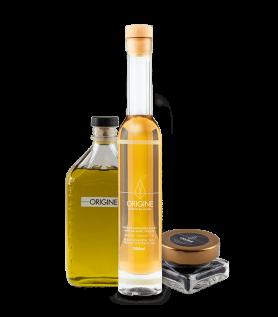 Ensemble – Huile d'olive, balsamique blanc et sel noir