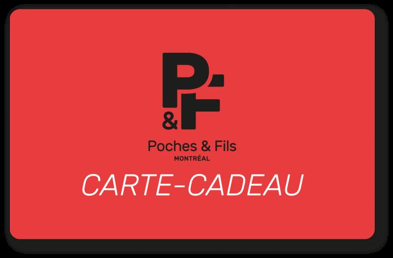 Cliquez ici pour acheter Carte-cadeau – Poches & Fils