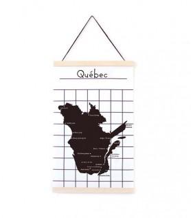Affiche – Carte du Québec