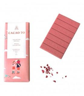 Tablette de chocolat blanc à la framboise