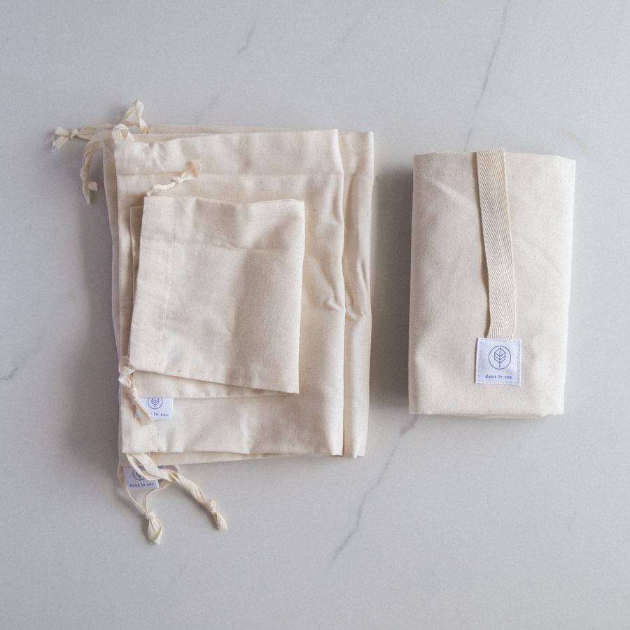 Cliquez ici pour acheter L'ensemble Zéro Déchet de Dans le sac