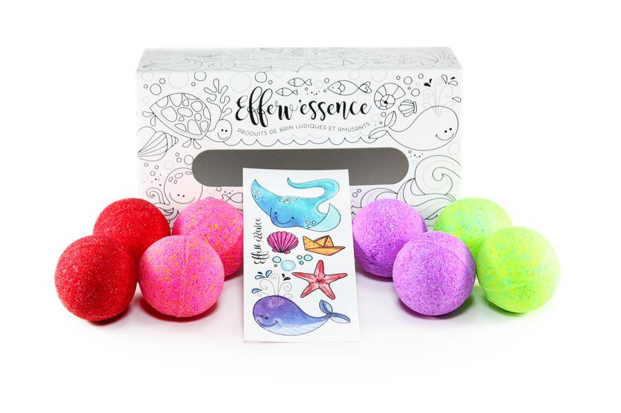 Cliquez ici pour acheter Boite à colorier – 8 petites bombes pour le bain