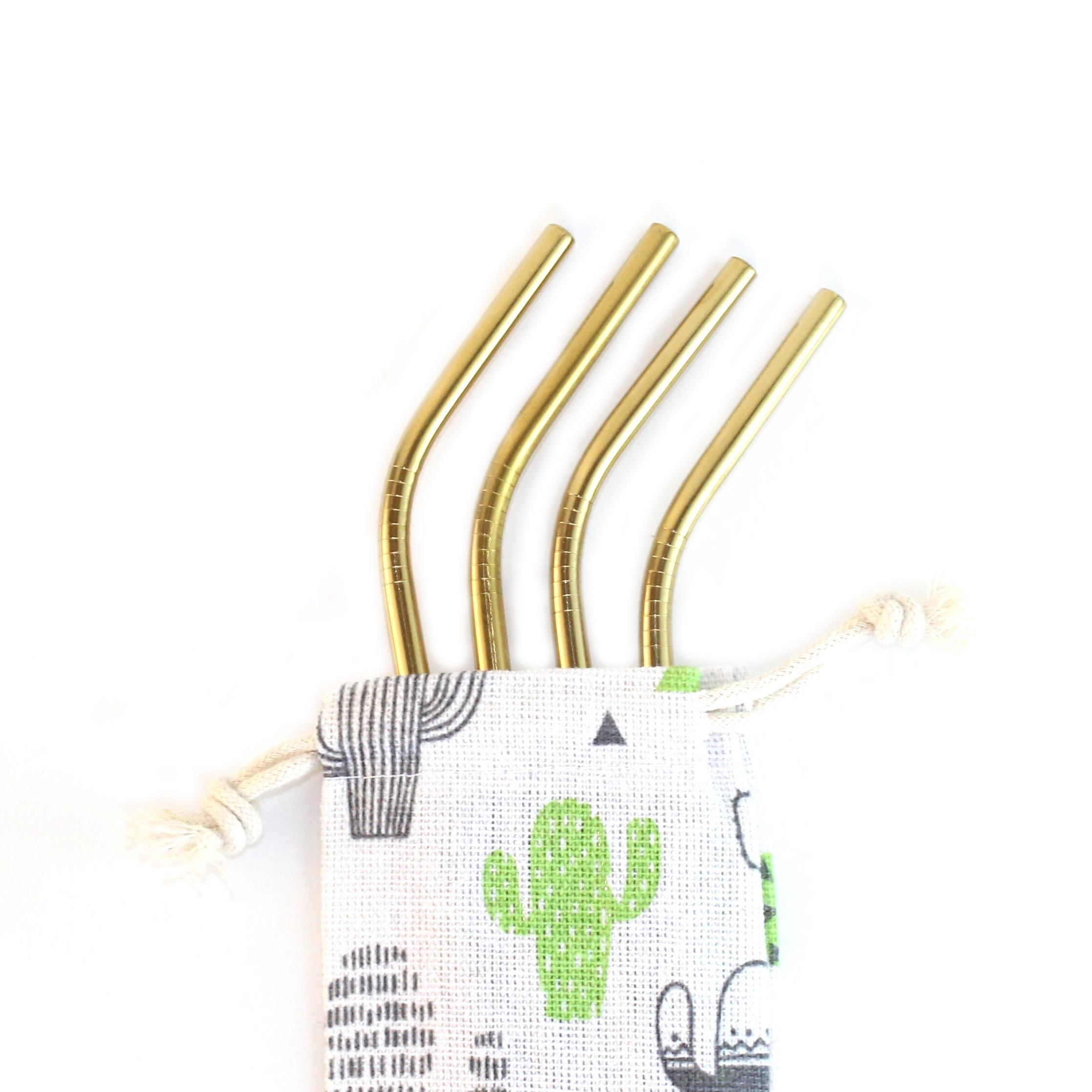 Cliquez ici pour acheter Pailles réutilisables – Or