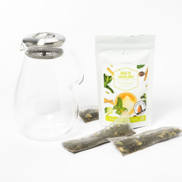 Cliquez ici pour acheter Ensemble de thé glacé – Pichet en verre & thé bio