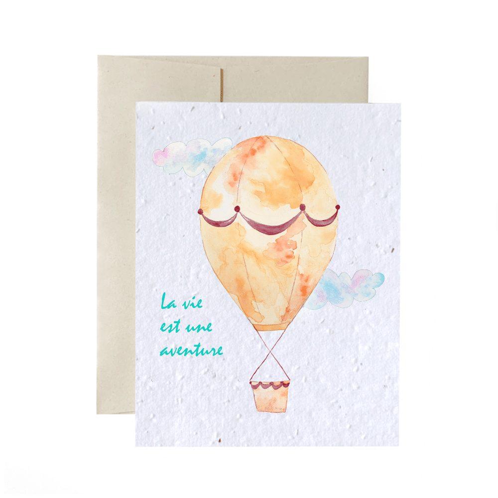 Cliquez ici pour acheter Carte de souhaits à planter – Montgolfière