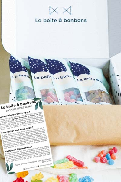 Cliquez ici pour acheter La boîte à bonbons Vegan