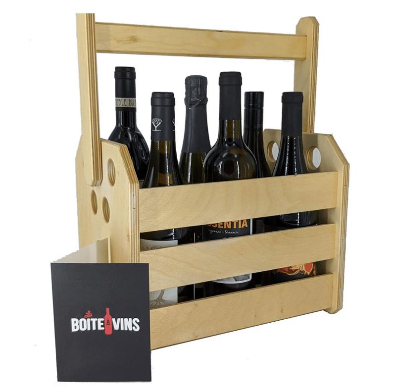 Cliquez ici pour acheter Coffret cadeau – Boîte de 6 bouteilles de vin du Québec