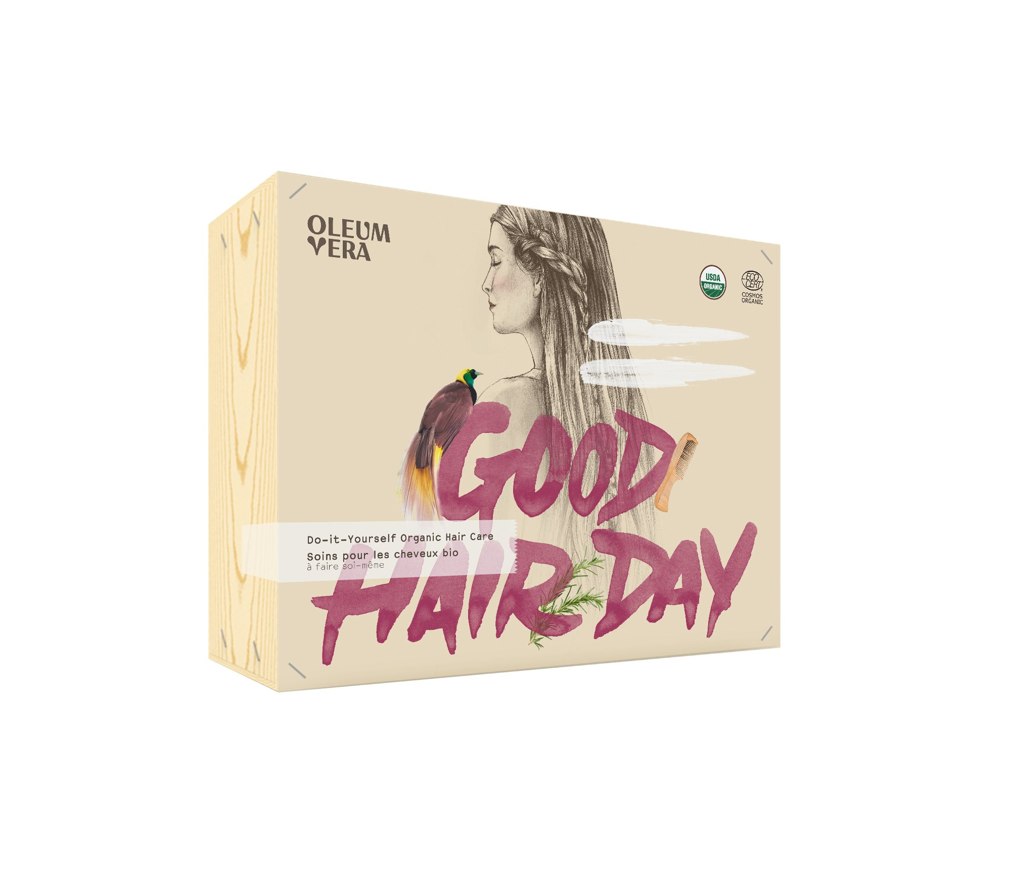 Cliquez ici pour acheter Coffret à faire soi-même – Soins Biologiques pour Cheveux (D.I.Y.)