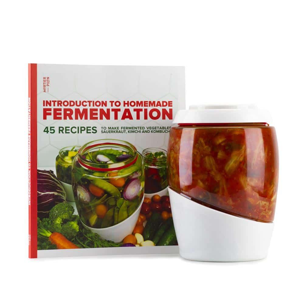 Jarre de Fermentation en Verre 2L avec livre de recette