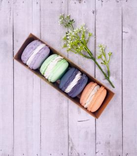 Savons artisanaux – Coffret de 4 macarons