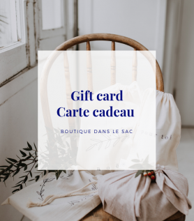 Carte-cadeau – Dans le sac