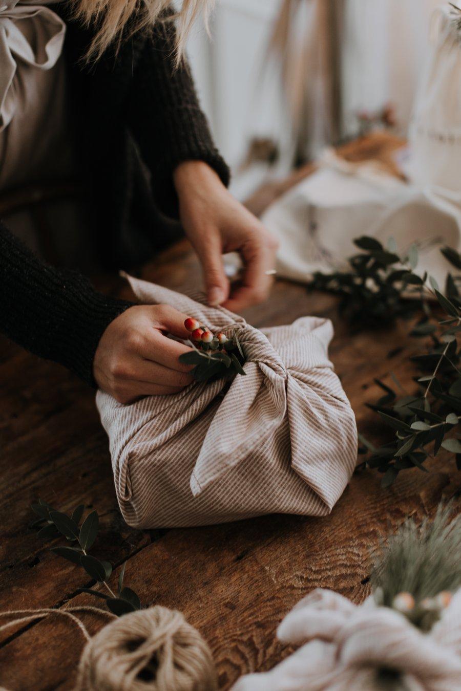 Cliquez ici pour acheter Furoshiki – Emballage cadeau écologique