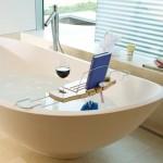 Planche en bambou pour le bain