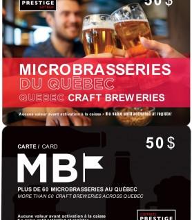 La Carte MB – Microbrasseries du Québec