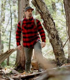 Chemise canadienne Hooké – Flanelle rouge et noir