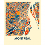 Affiche - Montréal style chroma