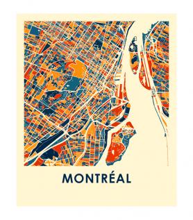 Affiche – Montréal style chroma