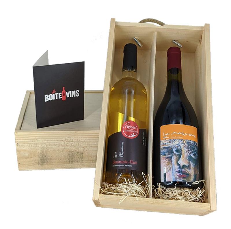 Coffret cadeau découverte – Boîte à vins du Québec
