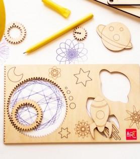 Spirographe – Spiral Art québécois en bois!