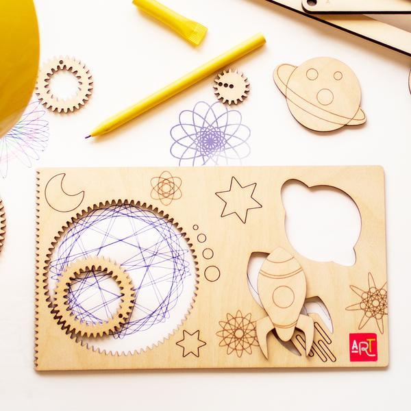 Cliquez ici pour acheter Spirographe – Spiral Art québécois en bois!