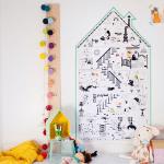 Affiche géante à colorier - La petite maison