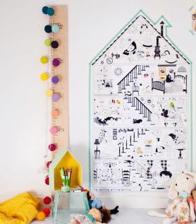 Affiche géante à colorier – La petite maison
