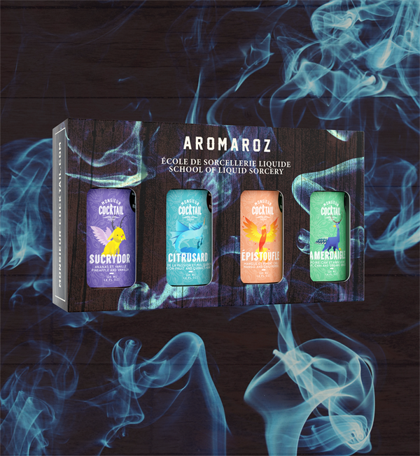 Coffret Aromaroz – Sirops à Cocktail