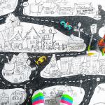 Affiche géante à colorier - La ville