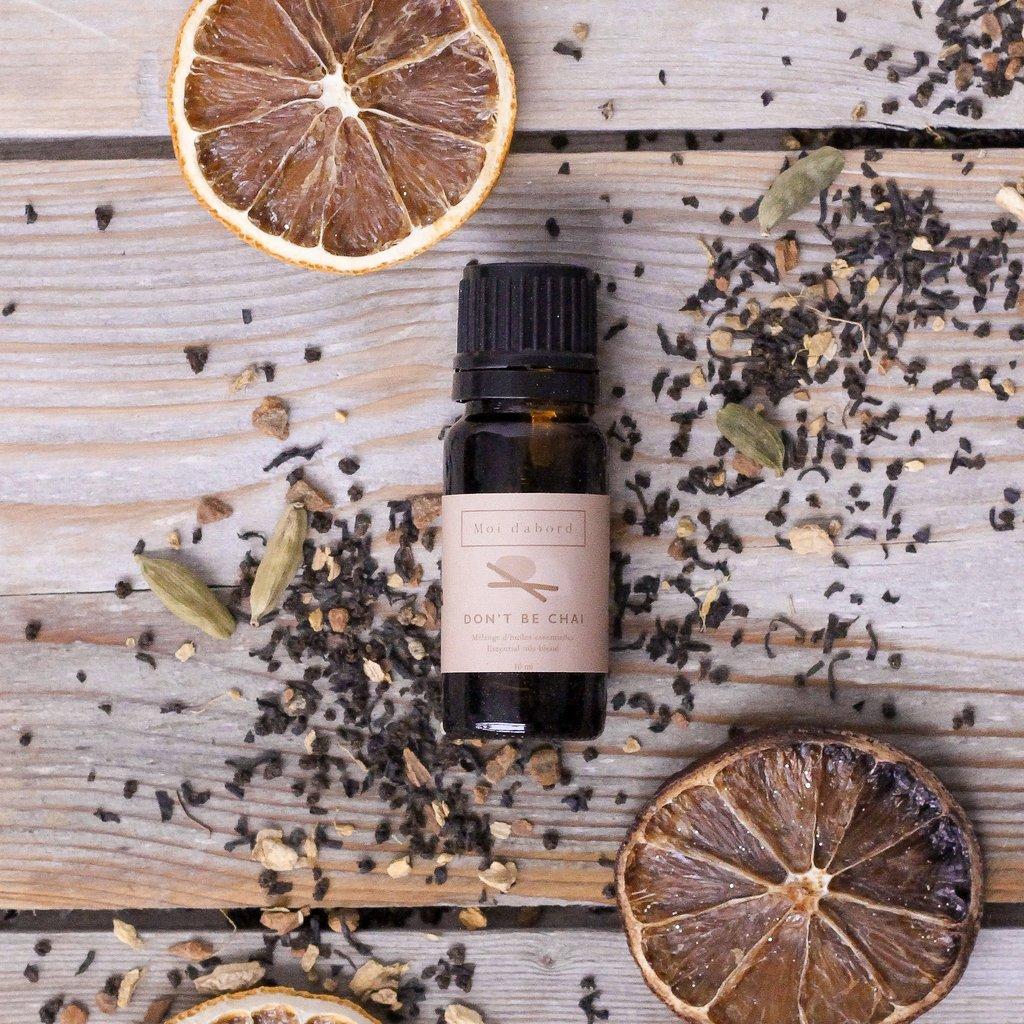 Cliquez ici pour acheter Mélange d'huiles essentielles – DON'T BE CHAÏ