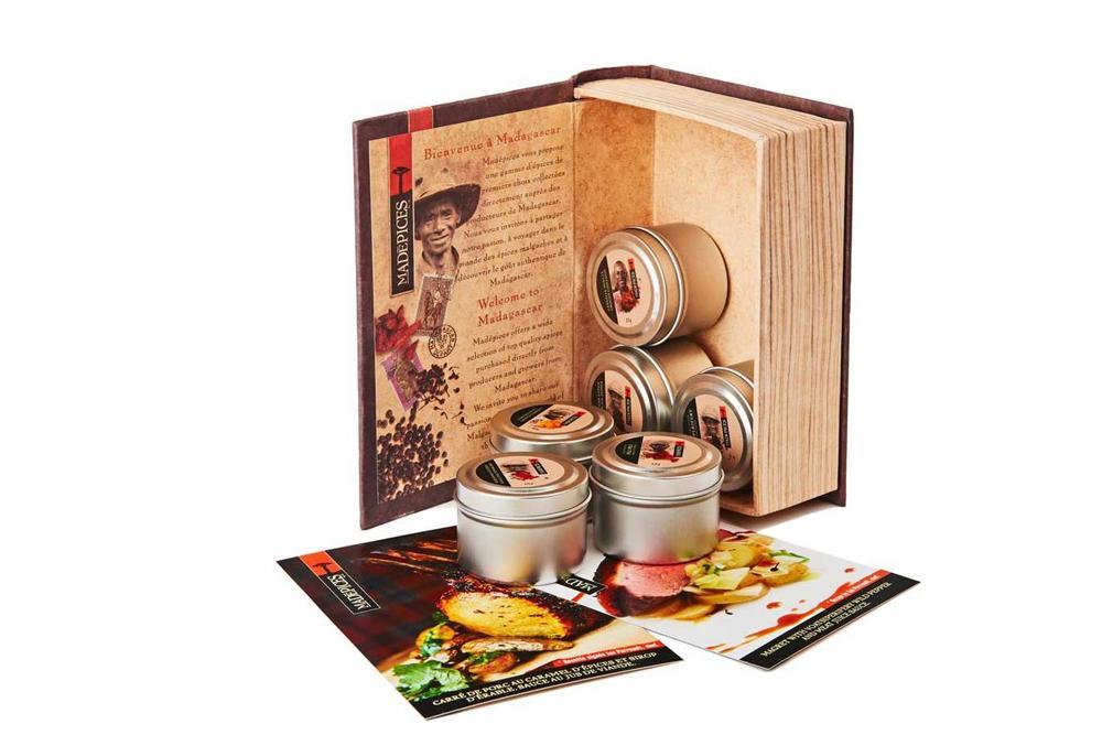 Cliquez ici pour acheter Coffret «Découverte des épices» (en forme de livre)