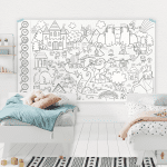 Affiche géante à colorier – La forêt enchantée
