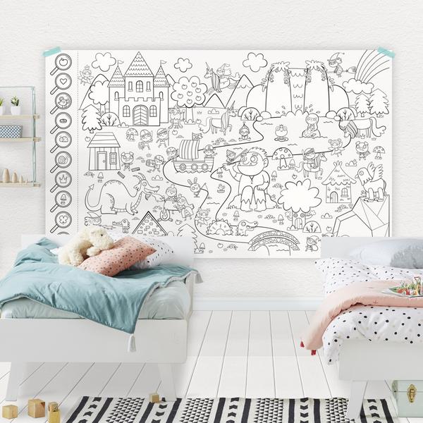 Cliquez ici pour acheter Affiche géante à colorier – La forêt enchantée