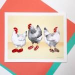 Affiche - Poulets en pantoufles phentex