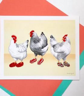 Affiche – Poulets en pantoufles phentex