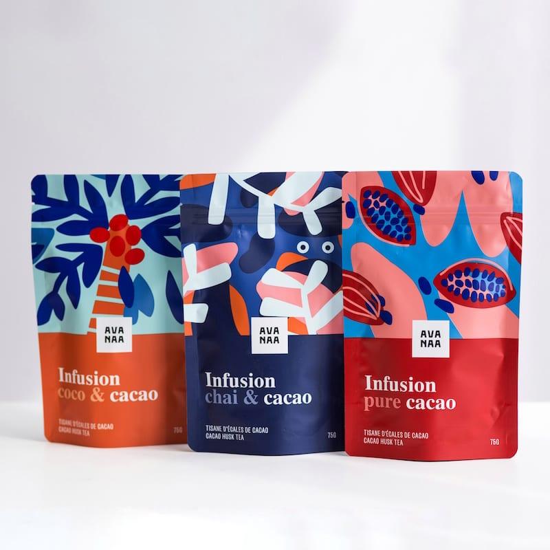 Cliquez ici pour acheter Trios de tisanes de cacao AVANAA