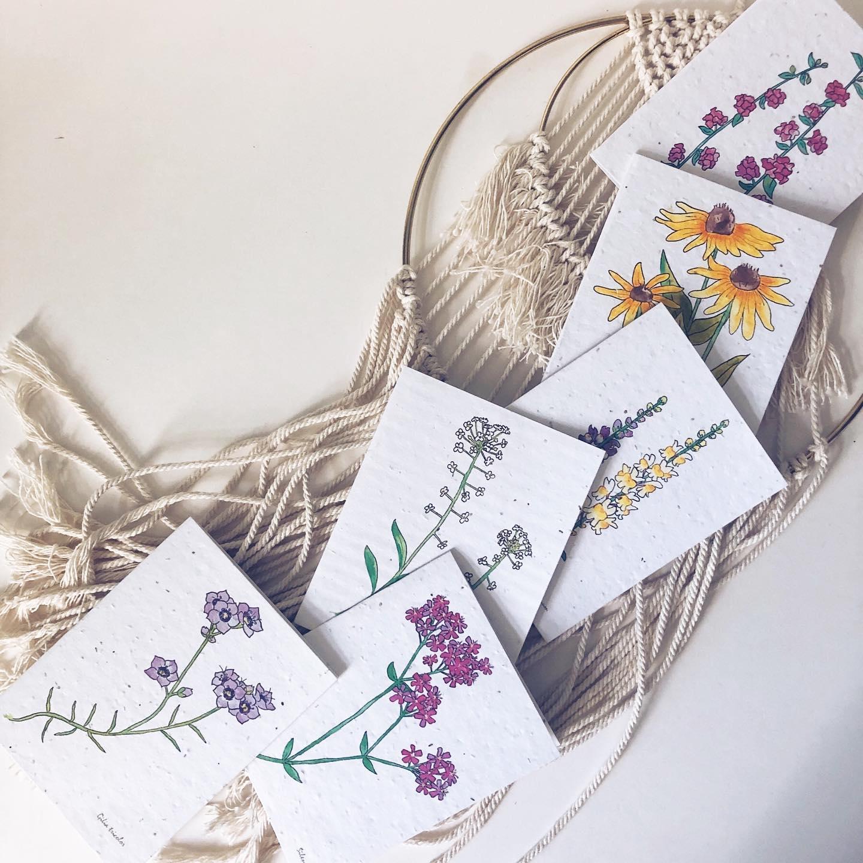 Cliquez ici pour acheter Flowerink – Carte de souhaits à planter